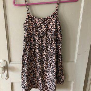 Short Stretchy Leopard Sundress